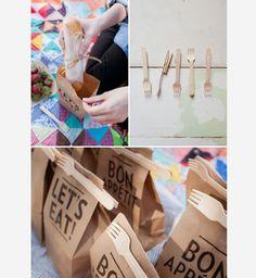 Astuce pique-nique : fermer ses sacs de lunch