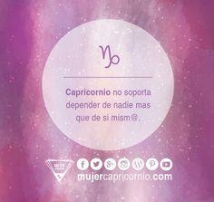 #Capricornio no soporta depender de nadie más que de sí mism@! #realidad…