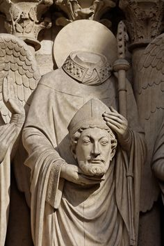 http://ift.tt/2rG9oyO that there is a saint named St. Denis. Who got his head chopped then got up picked up his head and walked 6 miles while preaching. He is the patron saint of headaches and possessed people.