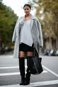 fashion, style, grey, black, boots,