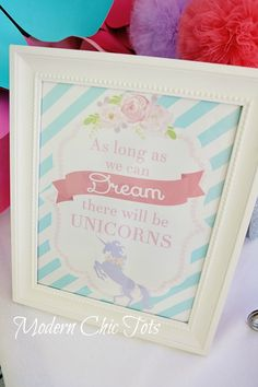 ***Enchanted Unicorn Party Printables***