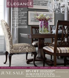 Ethan Allen Formal Dining Room   Love The Print End Chairs With Striped  Side Chairs
