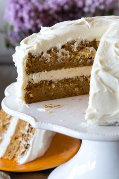 Layered Carrot Cake with Cream Cheese Frosting | What's Gaby Cooking