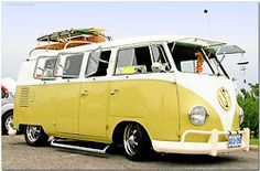 Mellow yellow surf mobile VW bus