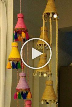 Artesanato com garrafa PET: 60 ideias de como reaproveitar este material, Diy Crafts Hacks, Easy Diy Crafts, Diy Arts And Crafts, Diy Crafts To Sell, Diy Crafts For Kids, Home Crafts, Wall Hanging Crafts, Diy Wall Art, Diy Wall Decor