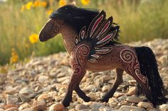 Absolutely Beautiful work of art!    Horse Soft Sculpture Animal Figurine native by DemiurgusDreams