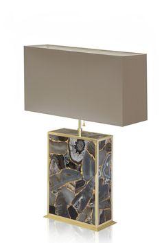 'Agate Umbra' #gold #lamp from Gladee Lighting #lighting