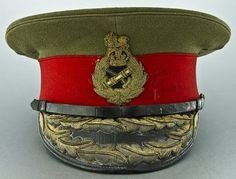 British Army General's Peaked Cap. Military Beret, Army Hat, British Army Uniform, British Uniforms, Soldier Costume, Occasion Hats, Peaked Cap, Military Uniforms, Headgear