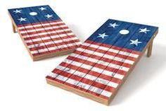 USA Flag Single Cornhole Board-Horizontal