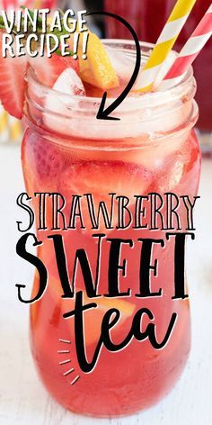 Sweet Tea Recipes, Iced Tea Recipes, Alcohol Drink Recipes, Drink Recipes Nonalcoholic, Alcoholic Drinks, Coctails Recipes, Dessert Drinks, Fun Drinks, Healthy Drinks