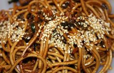 Sesame Teriyaki Noodles for side dish or | add some beef strips and mushrooms and you've got dinner!