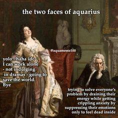 Aquarius Art, Aquarius Rising, Astrology Aquarius, Aquarius Traits, Aquarius Quotes, Age Of Aquarius, Zodiac Signs Horoscope, Zodiac Memes, Gemini Zodiac