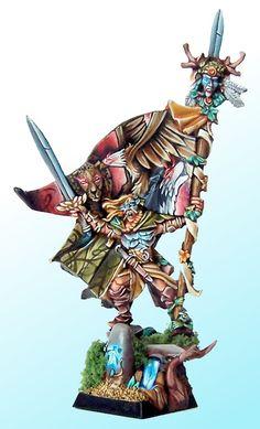 elfe Warhammer Wood Elves, Figurines Warhammer, Warhammer Terrain, Warhammer Fantasy, Stormcast Eternals, Wood Elf, High Elf, Fantasy Battle, War Hammer