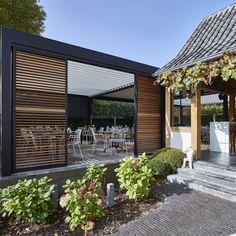 Lamellendaken | Demaeght Zen, Pergola, Outdoor Structures, Doors, Outdoor Decor, Home Decor, Decoration Home, Room Decor, Outdoor Pergola
