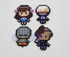 Overwatch Character Perler Bead - Dva, Soldier 76, Zenyatta and Sombra