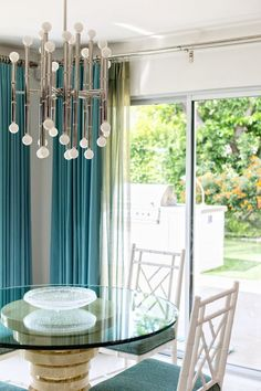 The Jonathan Adler Meurice Chandelier In Nickel Is Featured In This Palm  Springs House During The