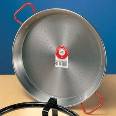 Carbon Steel Paella Pan w/ Red Handles 15'D * Trust me, this is great! Click the image. : Specialty Cookware