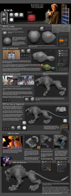 Blocking out in zbrush by DimiDevos.deviantart.com on @DeviantArt