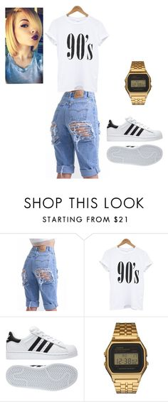 """""""Untitled #9"""" by catrina-currie ❤ liked on Polyvore featuring adidas and G-Shock"""