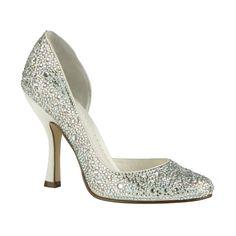 Beauty, comfort crystal wedding shoes theme