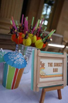 Retro Surf Birthday Party - Kara's Party Ideas - The Place for All Things Party