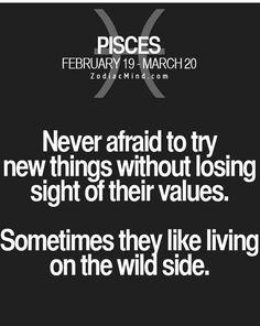 Pisces are wild