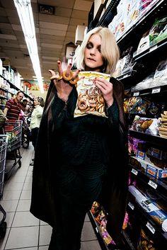 Supermarket Fashion ♥ http://duchessdior.tumblr.com/post/98328834459/jessica-stam-for-harpers-bazaar-russia-october
