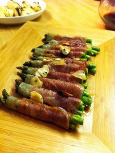 Grilled Asparagus In panchetta