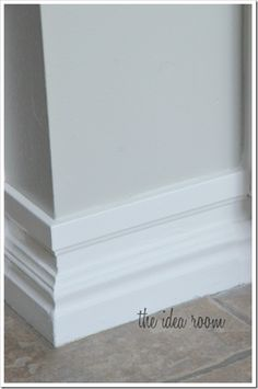 Loads of great info about baseboards - several pictures of various styles