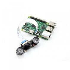 Camera Raspberry Pi grand angle à focus ajustable et vision de nuit (H)