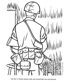 military coloring page vietnam war