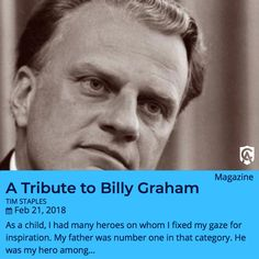 Tim Staples reflects on the influence Billy Graham had on his life of Faith. #CAMO #Catholic #CatholicAnswers #BillyGraham #CatholicChurch #Catholicism #Catholicfaith #Catholics