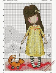 Risultato immagini per gorjuss cross stitch patterns Cross Stitch Baby, Modern Cross Stitch, Cross Stitch Flowers, Cross Stitch Charts, Cross Stitch Designs, Cross Stitch Patterns, Cross Stitching, Cross Stitch Embroidery, Stitch Doll