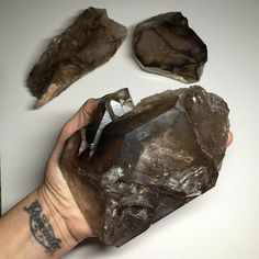 I must be on a Smoky kick  Large Smoky Skeletal Quartz (2.12lbs) Minas Gerais Brazil Available not yet listed. DM or comment with interest #e360_ #sunday #gaia #smoky #skeletal #elestial #quartz #crystal #minasgerais #igersminasgerais #geology #rock #rockhound by e360_