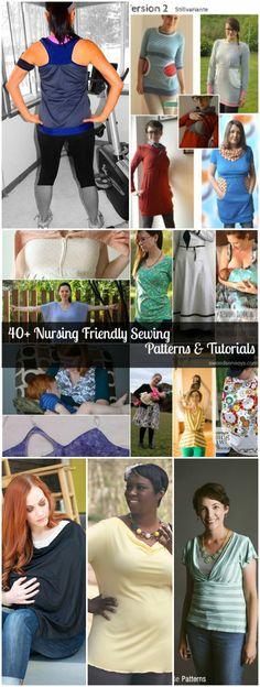 40+ Nursing Friendly Sewing Patterns and Tutorials