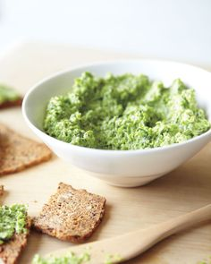 Fresh Pea Hummus: Fiber-rich peas have hefty amounts of vitamin K and folate, nutrients that are more readily absorbed when you eat them with a bit of fat, such as the tahini in this hummus recipe, Wholeliving.com