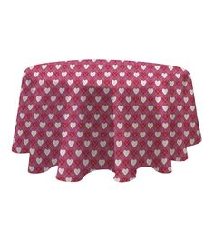 Valentine's Day 60'' Round PEVA Tablecloth-Very Valentines