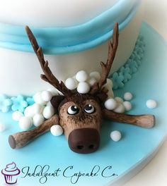 Sven The Reindeer from Frozen, made from Sugarpaste.......