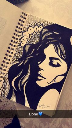 Can u add up a proper photo please it's my kind request Girl Drawing Sketches, Doodle Art Drawing, Dark Art Drawings, Girly Drawings, Mandala Drawing, Pencil Art Drawings, Mandala Art Lesson, Easy Doodle Art, Buch Design