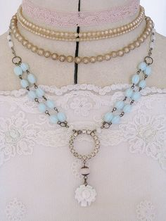 Vintage and beautiful   Andrea Singarella's amazing repurposed necklaces using vintage jewelry.