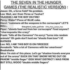 The Seven in the hunger games. percy jackson/heroes of olympus, hunger games crossover