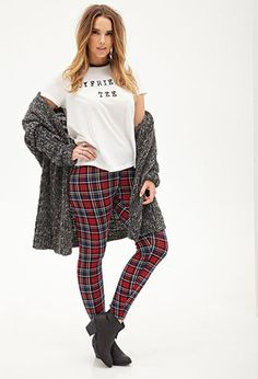 Tartan Plaid Leggings | FOREVER21 PLUS - 2000056999
