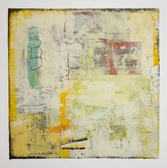 "Lisa Pressman, ""Between the Lines 3"", encaustic"