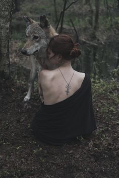 forest spirits (by Olga Barantseva) Fantasy Magic, Dark Fantasy, Fantasy Photography, Portrait Photography, Wolf Hybrid, Wolves And Women, Photo Vintage, Wolf Love, Beautiful Wolves