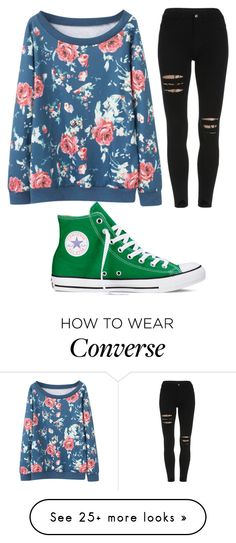 """Polyvore app"" by katiekat-688 on Polyvore featuring Converse"