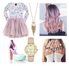 """""""Pastel"""" by princessgracieneland on Polyvore featuring Olympia Le-Tan, Kate Spade and Cara"""