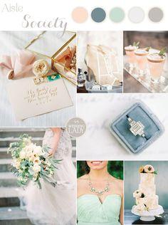 A Modern Pastel Wedding Palette to Celebrate Aisle Society!