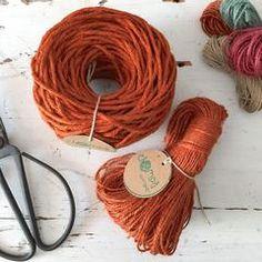 Rusty Orange Rustic Linen Cord • French Style – ChompaHandmade