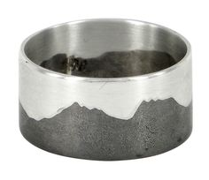 Cradle mountain sterling silver and suibuichi ring