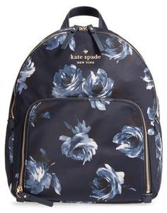8478fdddfbbc Kate Spade New York Watson Lane Night Rose Hartley Nylon Backpack - Blue  Carry All Bag